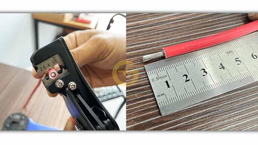 Tuốt 2 lớp vỏ dây DC màu đỏ 10-15mm