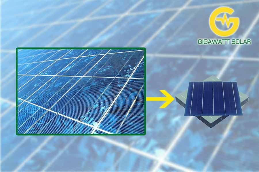 Cell pin năng lượng mặt trời poly sau khi xử lý bề mặt