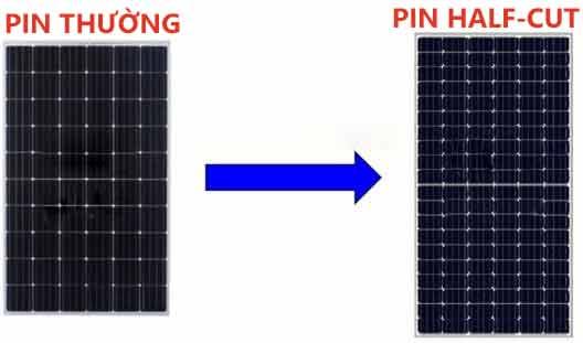 Pin mặt trời thường và pin mặt trời halfcell