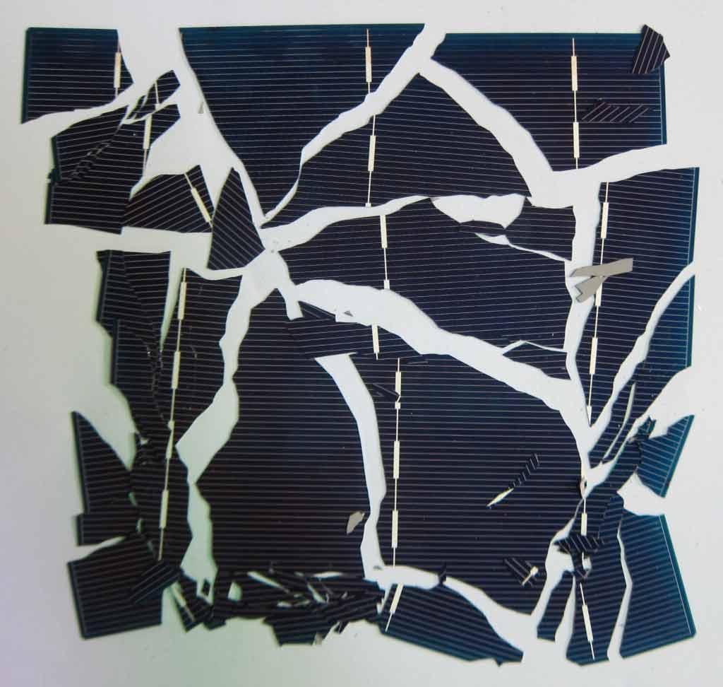 Cell pin mặt trời vỡ nát, hạng d