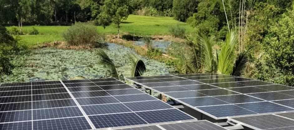 Công trình Điện mặt trời hòa lưới sử dụng tấm pin năng lượng mặt trời Poly HT-SAAE halfcell 340Wp